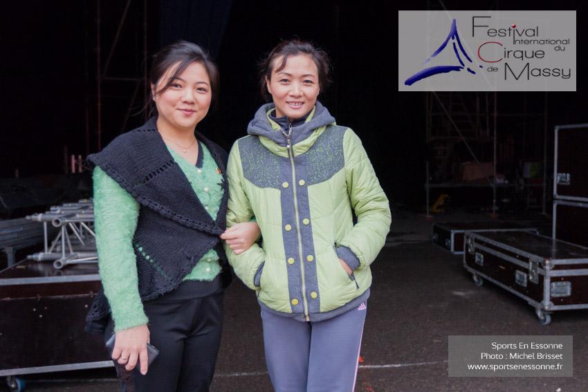 M60116A0033 - Les Flying Girls venant de Corée du Nord sont déjà sur place